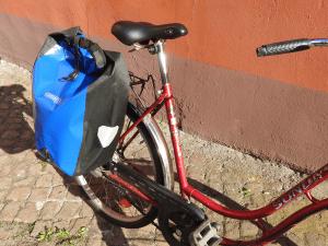 Die Seitentasche gehört zu den klassischen Radtaschen.