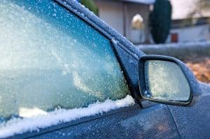 Vorsicht im Winter - die Scheibenwischer können festfrieren.
