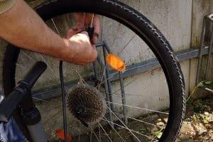 Wenn das Fahrrad eine Panne hat, wird Zubehör in Form von Werkzeug benötigt.