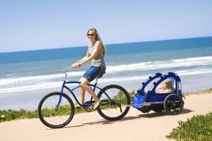 Das Fahrrad kann mit entsprechendem Zubehör zur Beförderung von Kindern dienen.