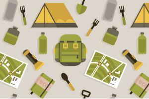 Ein Wanderrucksack-Test zeigt, wie viel Stauraum der jeweilige Rucksack hat.