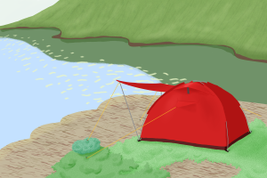 Gute Zelte können bspw. Kuppelzelte sein.