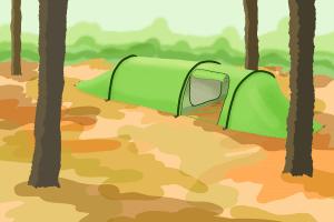 Als Test-Trekkingzelt eignen sich Tunnelzelt bei viel Platzbedarf.