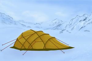 Welches Zelt Sie kaufen, hängt z. B. von der Windstäbilität ab - beim Geodät normalerweise gut ausgeprägt.