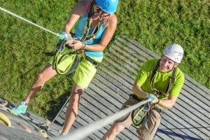 Ein neues Kletterseil einem ersten Test zu unterziehen, funktioniert am besten beim Sportklettern.
