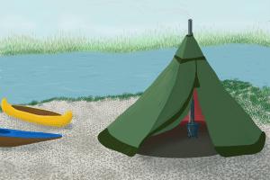 Das Tipi-Zelt: Im heimischen Test überzeugt es nicht nur die Erwachsenen.