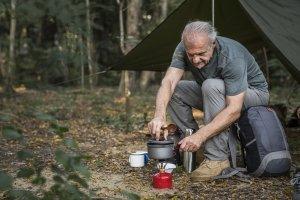 Auch noch nach Jahren kann der Trekking-Schlafsack den Test in Zelt oder Tarp bestehen.