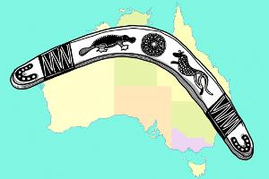 Eine Art Bumerang-Test gab es schon bei den jungen Aborigines: Sie lernten den geschickten Umgang mit dem Wurfgerät eher spielerisch.