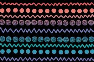 Bunte Farben und Muster sind für Crossboule-Bälle charakteristisch.