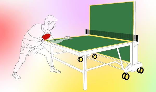 Die Indoor-Tischtennisplatte im Selbst-Test: Ein besseres Ballabsprungverhalten wird Ihnen auffallen.