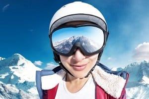 Skibrille mit Sehstärke: Ein Seh-Test bestimmt zuvor die Sehstärke.