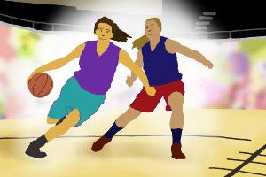 Prüfen Sie beim eigenen Test vom Basketballkorb mit Ständer die Bespielbarkeit unterhalb des Korbes.