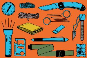 Vor dem Einsatz sollte jedes Survival-Kit einem Praxis-Test zur Übung unterzogen werden.