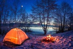 Besonders schön kann ein Test im Kinderschlafsack im Winter sein.