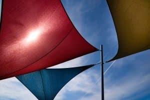 Pavillon: Im persönlichen Test sollte (ähnlich wie beim Sonnensegel) auch der Sonnenschutzfaktor eine Rolle spielen.