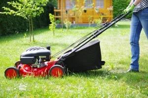 Ein Elektro-Rasenmäher schont im Vergleich zu einem Benzin-Modell die Umwelt.